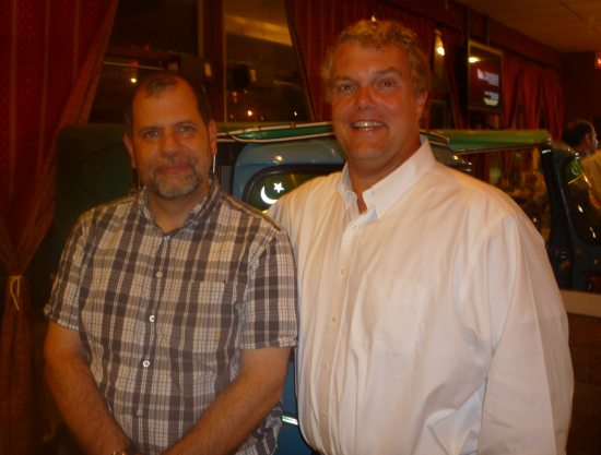 Tyler Cowen and Mike Munger at Chutny Restaurant, Springfield, VA, August 2011