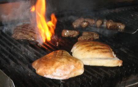 Pljeskavica and Cevapcici on the grill