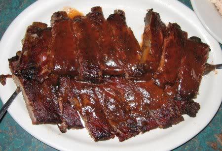 Dixe Bones BBQ, rack of ribs