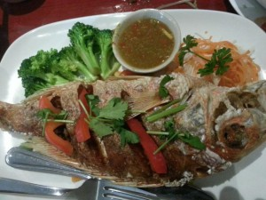 Whole fish in chili sauce