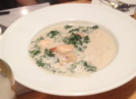 Shrimp in coconut milk at Purple Patch