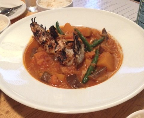 Shrimp and Vegetables at Purple Patch